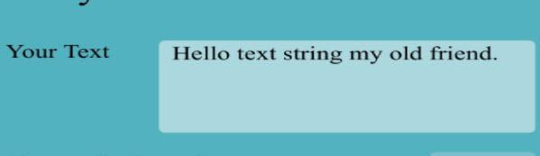 Nhập chữ cần in đậm vào ô Your Text