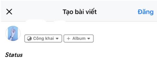 Dán chữ vừa copy vào Facebook