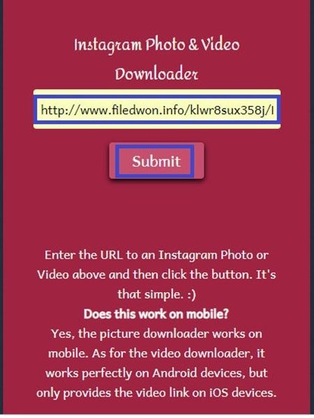 Instagram Photo and downloader