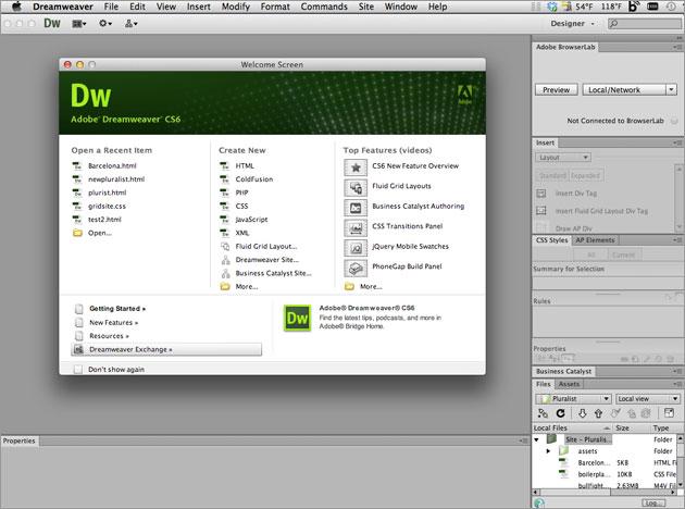 Tính năng mới của Adobe dreamweaver cs6