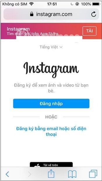 Vô hiệu hóa Instagram tạm thời