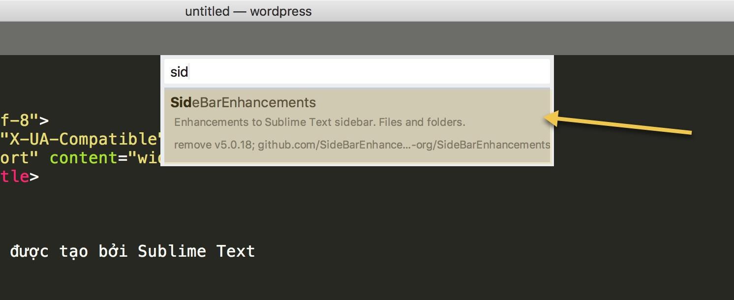 Cách cài đặt Sidebar Enhancements