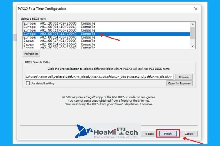 """Nhấn chọn vào phiên bản """"v02.00 ngày 4/11/2004″"""