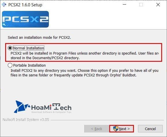 Cài đặt phần mềm giả lập PCSX2