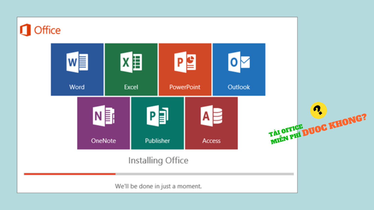 Chờ tải xuống các ứng dụng Office 365
