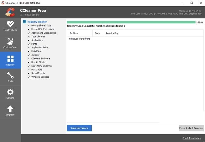 Và đây là giao diện sau khi đã xử lý xong phần Registry