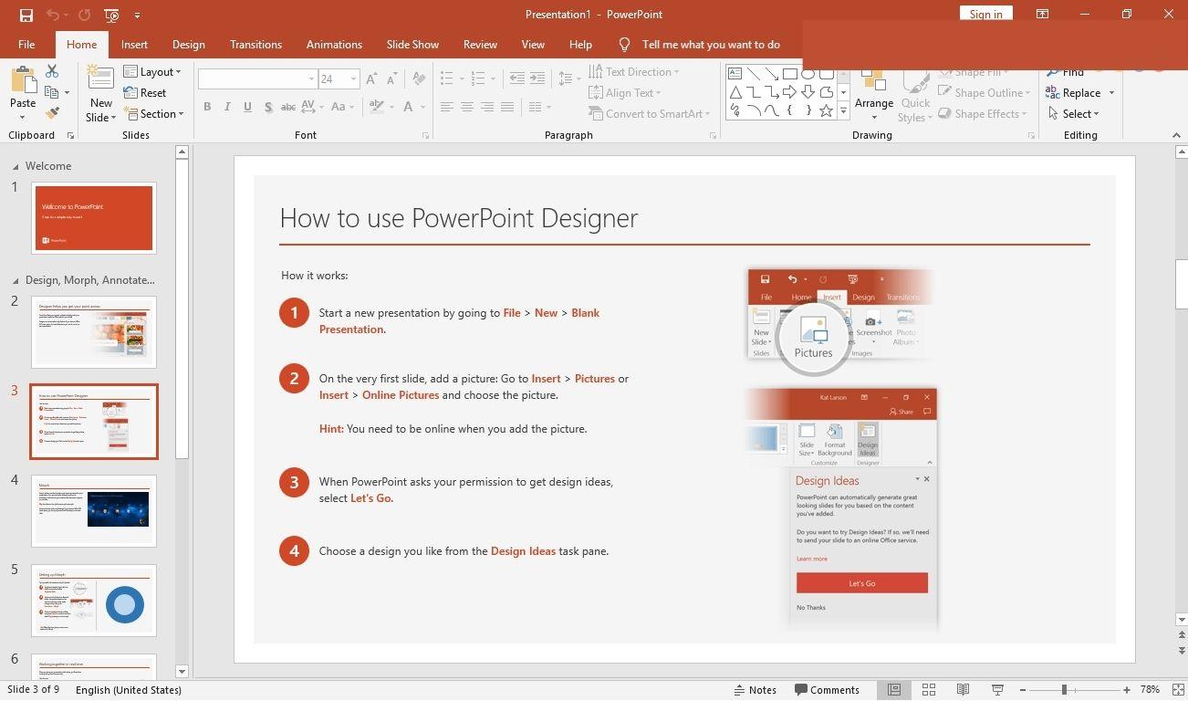 Bản trình bày chuyên nghiệp trên PowerPoint 2016