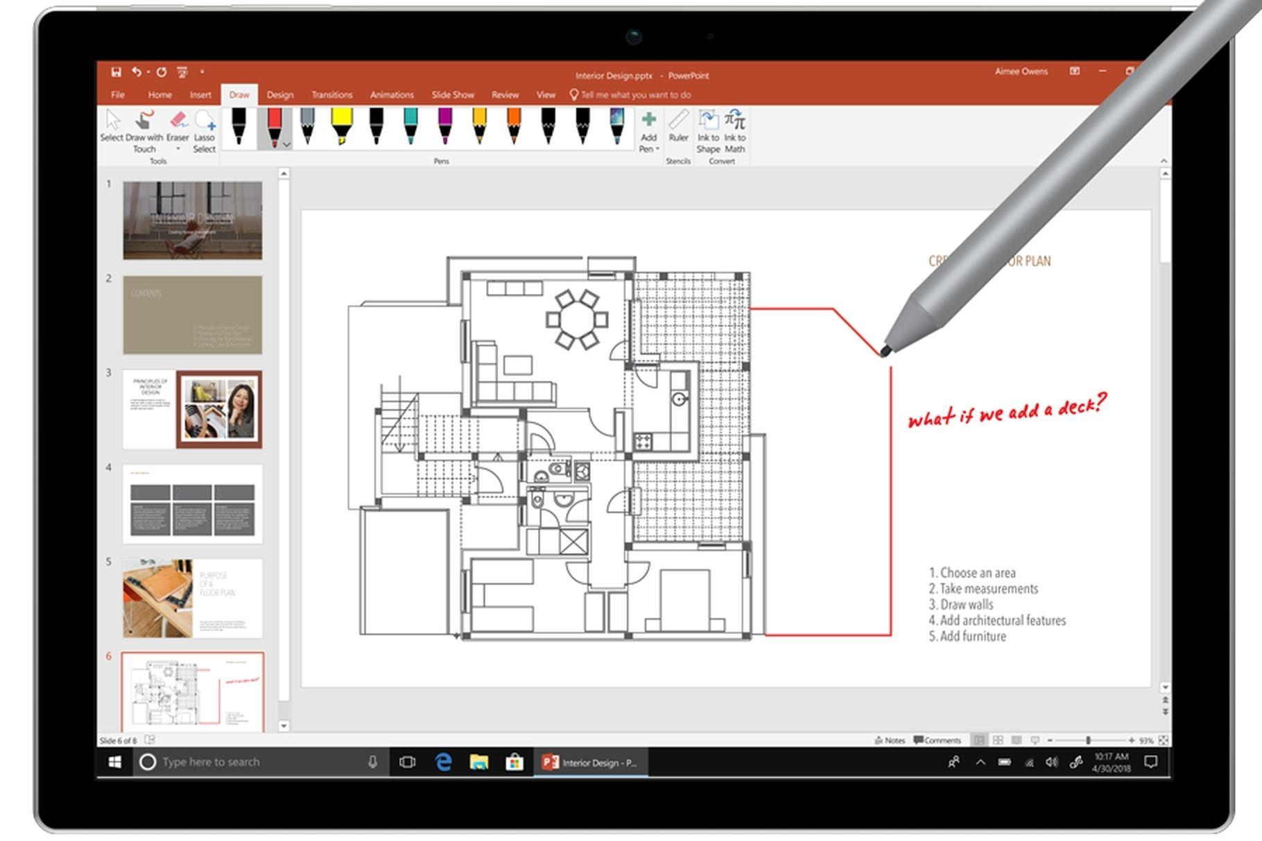 Các ứng dụng đi kèm của Office 2019 Preview