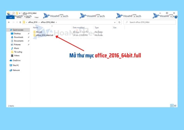 Mở thư mục office_2016_64bit.full