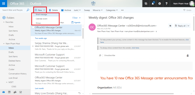Tạo email