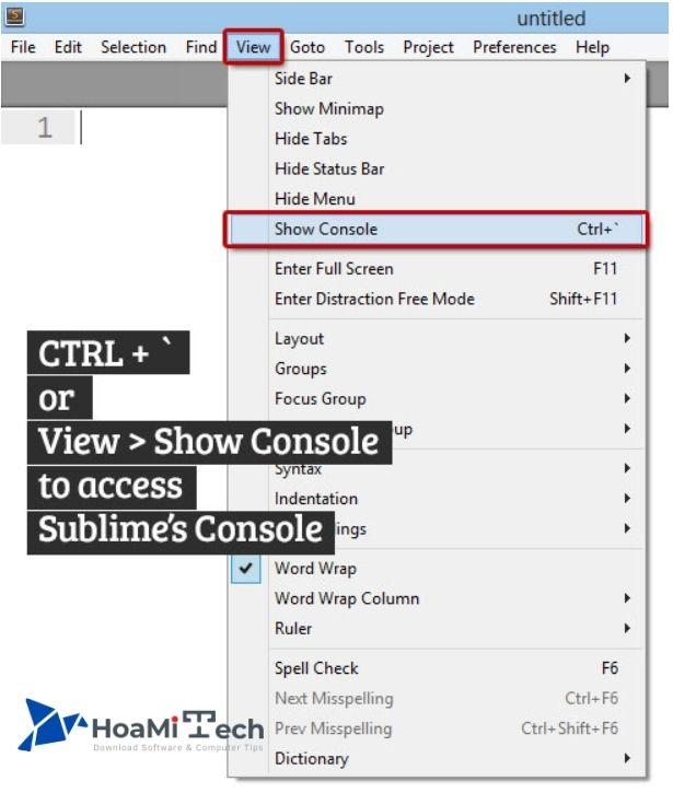 Cài đặt Package Control Sublime Text 3