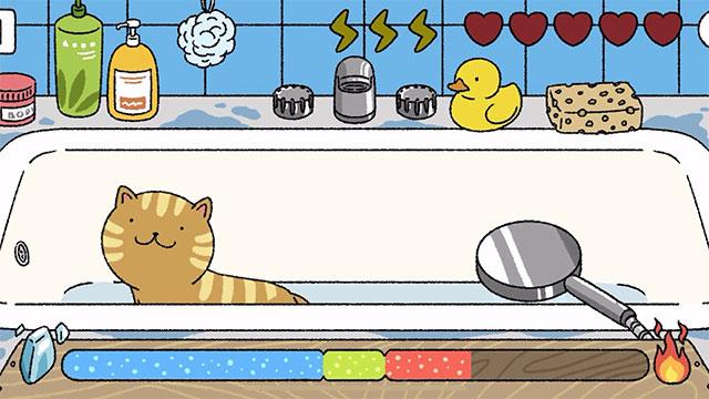Cách tắm mèo trong Game Adorable Home