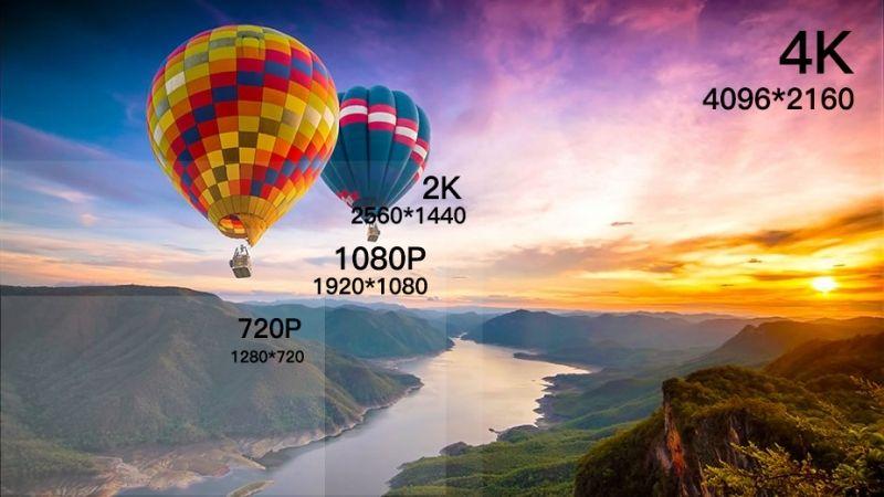 Giới thiệu về độ phân giải HD, Full HD, 2K, 4K
