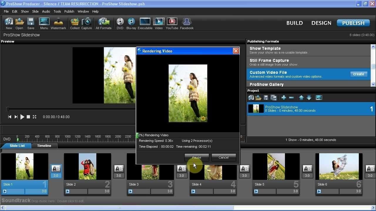 Tổng quan về video trong Proshow Producer