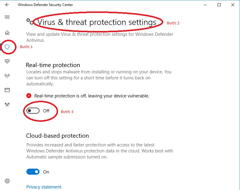 Tắt phần mềm diệt virus tránh lỗi Unlicensed product microsoft office 2010