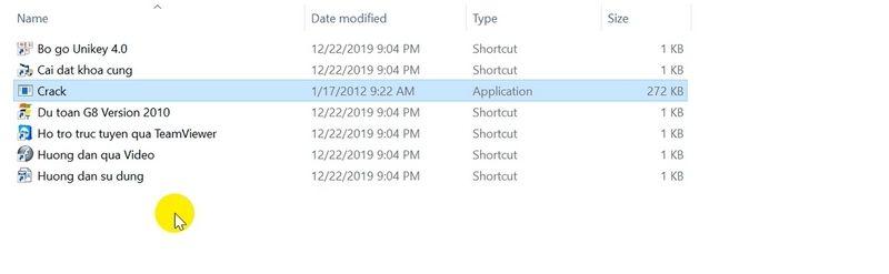 Sao chép file crack vào thư mục này và khởi chạy nó