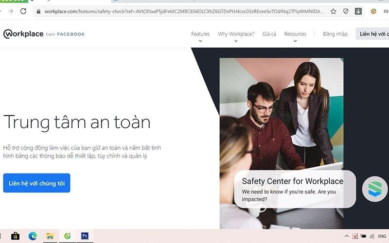 Trung tâm an toàn hỗ trợ và bảo vệ cộng đồng làm việc trên Workplace