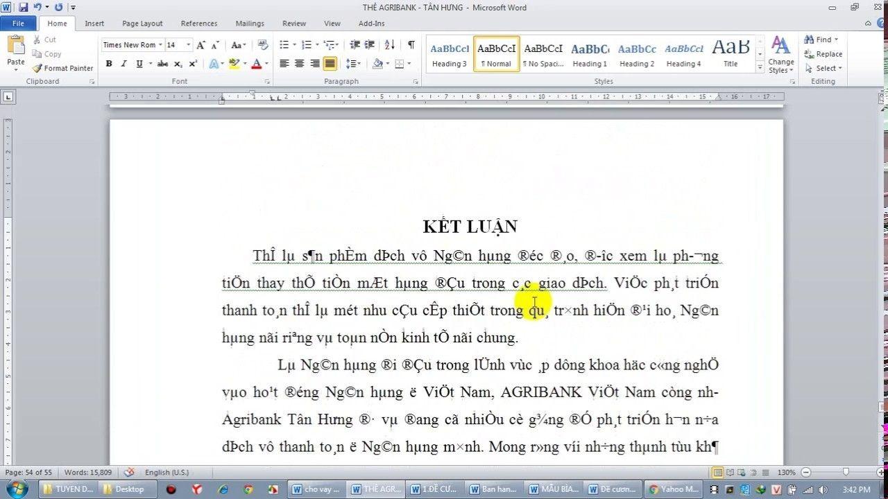 Nguyên nhân của lỗi font chữ trong Word