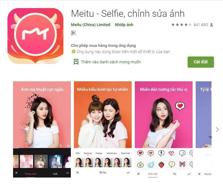 Giao diện app Metu rất nữ tính