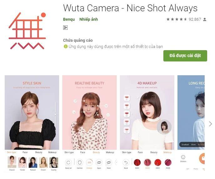 Wuta – App chỉnh số 1 Trung Quốc