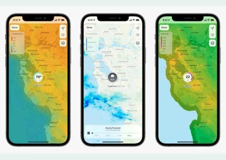 Apple Maps trên iOS 15