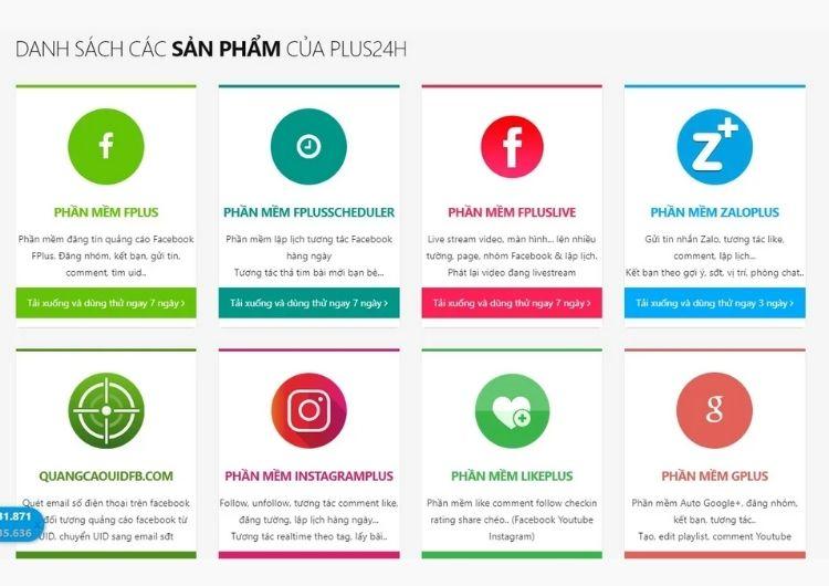 Các sản phẩm của Plus24h
