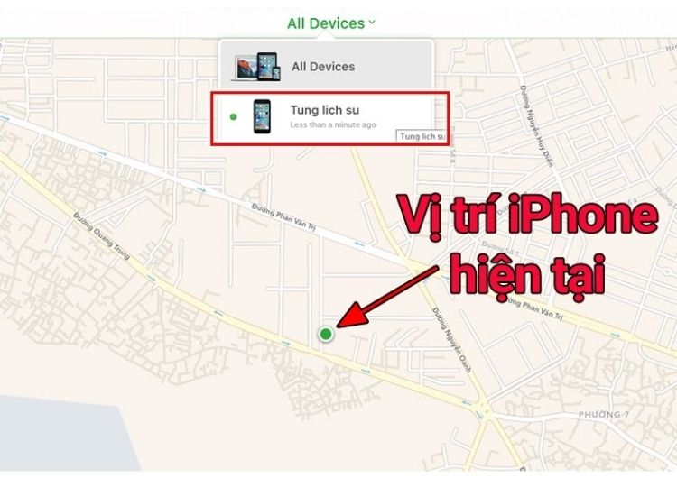 """Chọn mục """"All Devices"""""""