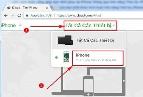 Đểkhóa iPhonevà đặt mật khẩu mới cho máy chọnLost mode