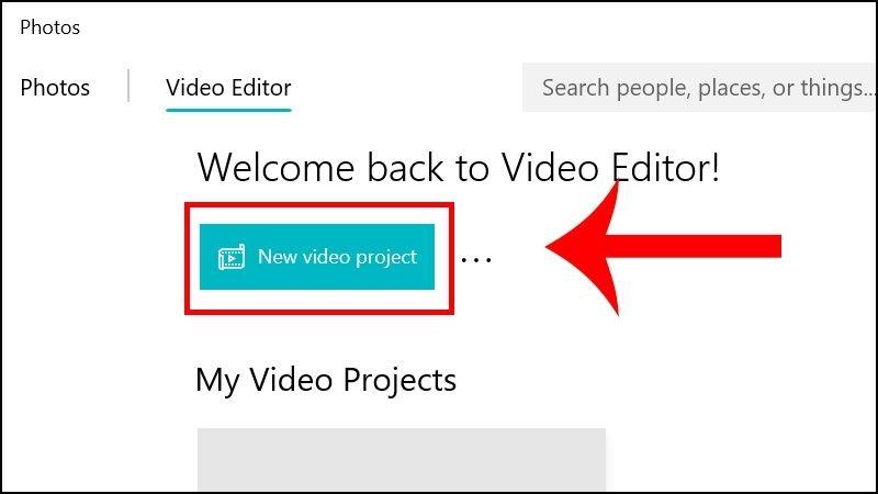 Click vàoNew video project