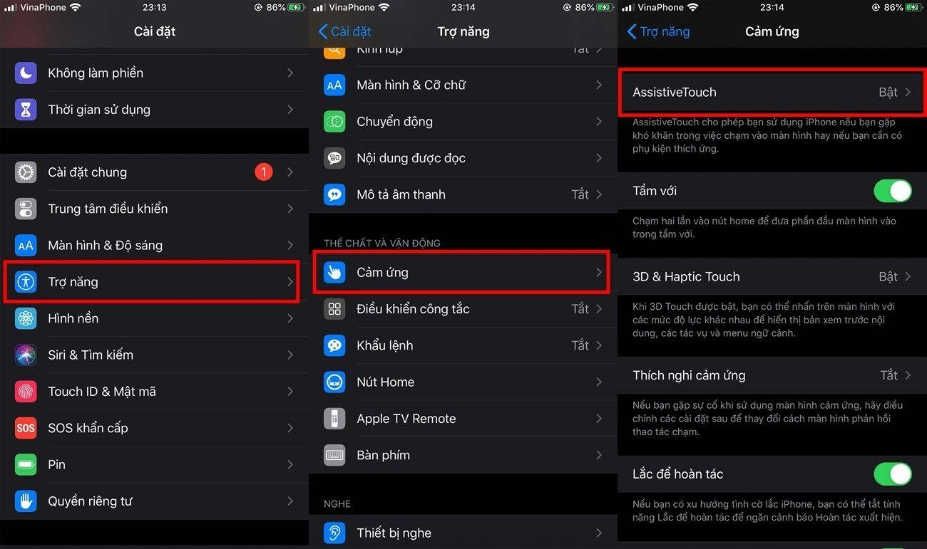 Dùng AssistiveTouch để tắt âm chụp ảnh iPhone