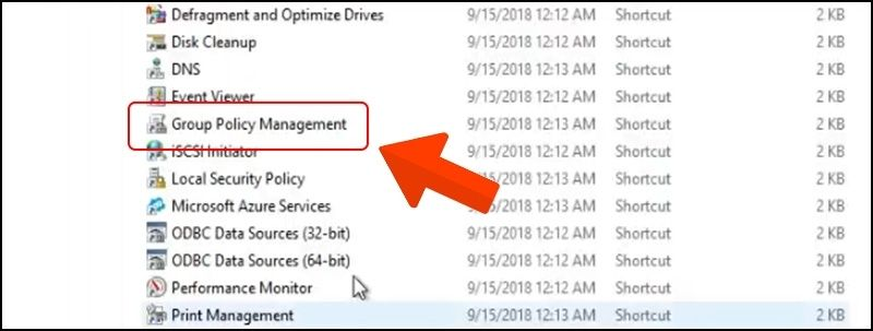 Chọn Group Policy Management