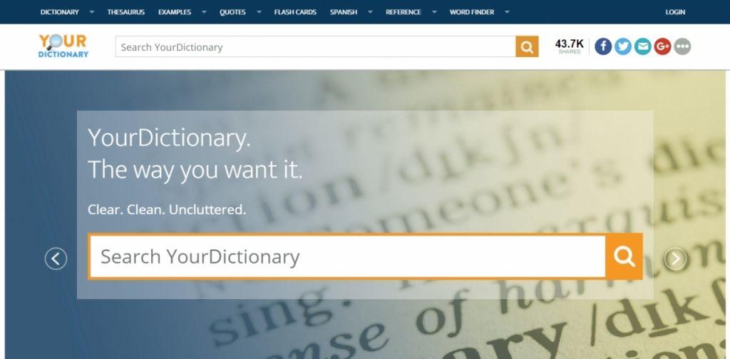 Your Dictionary cung cấp giải nghĩa dễ hiểu