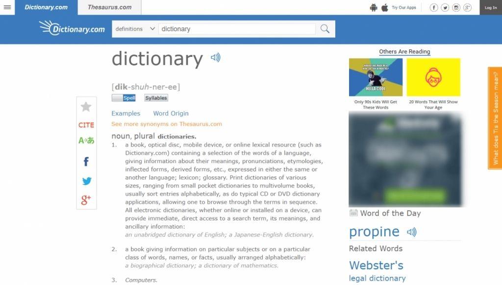 Tra từ tại Dictionary.com