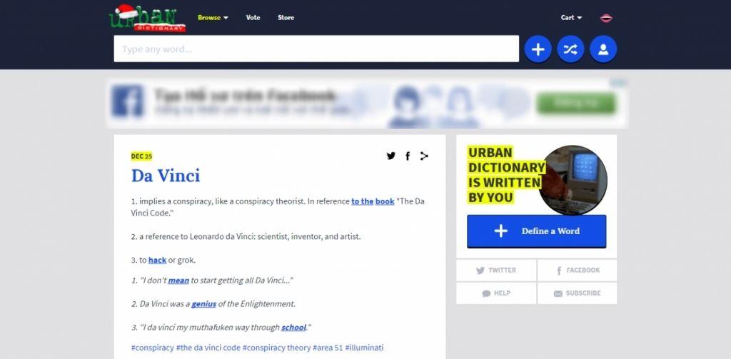 Từ điển Urban chuyên cung cấp từ lóng