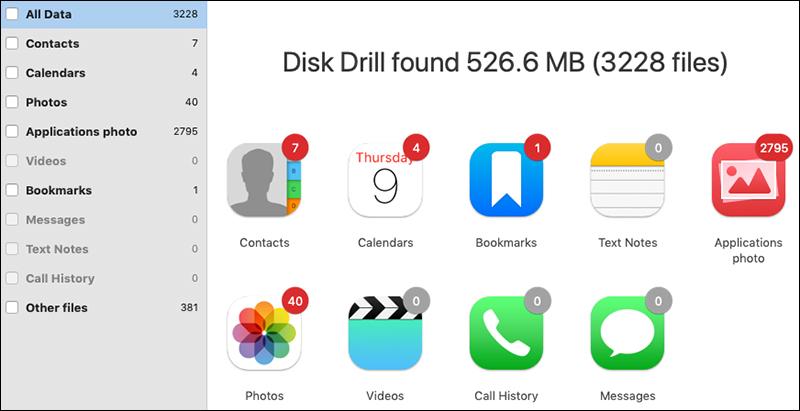 Xem lại các tệp mà Disk Drill